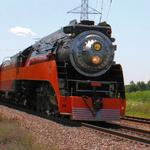 "Photographer: Christopher Allen  Photo Taken: Pleasant Prairie, Wisconsin  Photo of: Southern Pacific GS-4 ""Daylight Express""  For more photo from Chris, Please check out http://www.flickr.com/photos/stormdog42"