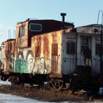Photographer: Christopher Locke  Photo Taken: Racine, WI  Photo of: Tagged Soo Caboose