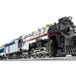 CHICAGO CUBS™ BERKSHIRE STEAM SET Set Includes Berkshire locomotive and tender Two coaches One observation car Eight curved FasTrack sections, three straight FasTrack section, one FasTrack terminal section CW-80 Transformer