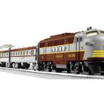 "CANADIAN PACIFIC FT PASSENGER SET (LOCO #1410) Set Includes: 638233 FT diesel 635253 Coach car 635254 Vista dome car 635255 Observation car Three 10"" straight FasTrack track sections, eight curved O36 FasTrack track sections, a FasTrack terminal section CW80 Transformer"