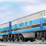 #2269W B&O DIESEL FREIGHT SET (TMCC F3 PWR A #2368P, DMY B #2368C) SKU: 6-31752 SET INCLUDES: #2368P F3 powered A-unit, 2368C F3 non-powered B-unit, #3356 horse car and corral, #6518 double-truck flatcar with transformer, #6315 single-dome tank car, #3361 log dump car, #6517 bay window caboose